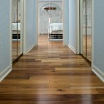Acacia wood floors in hall
