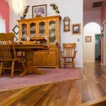 hardwood floors in dining