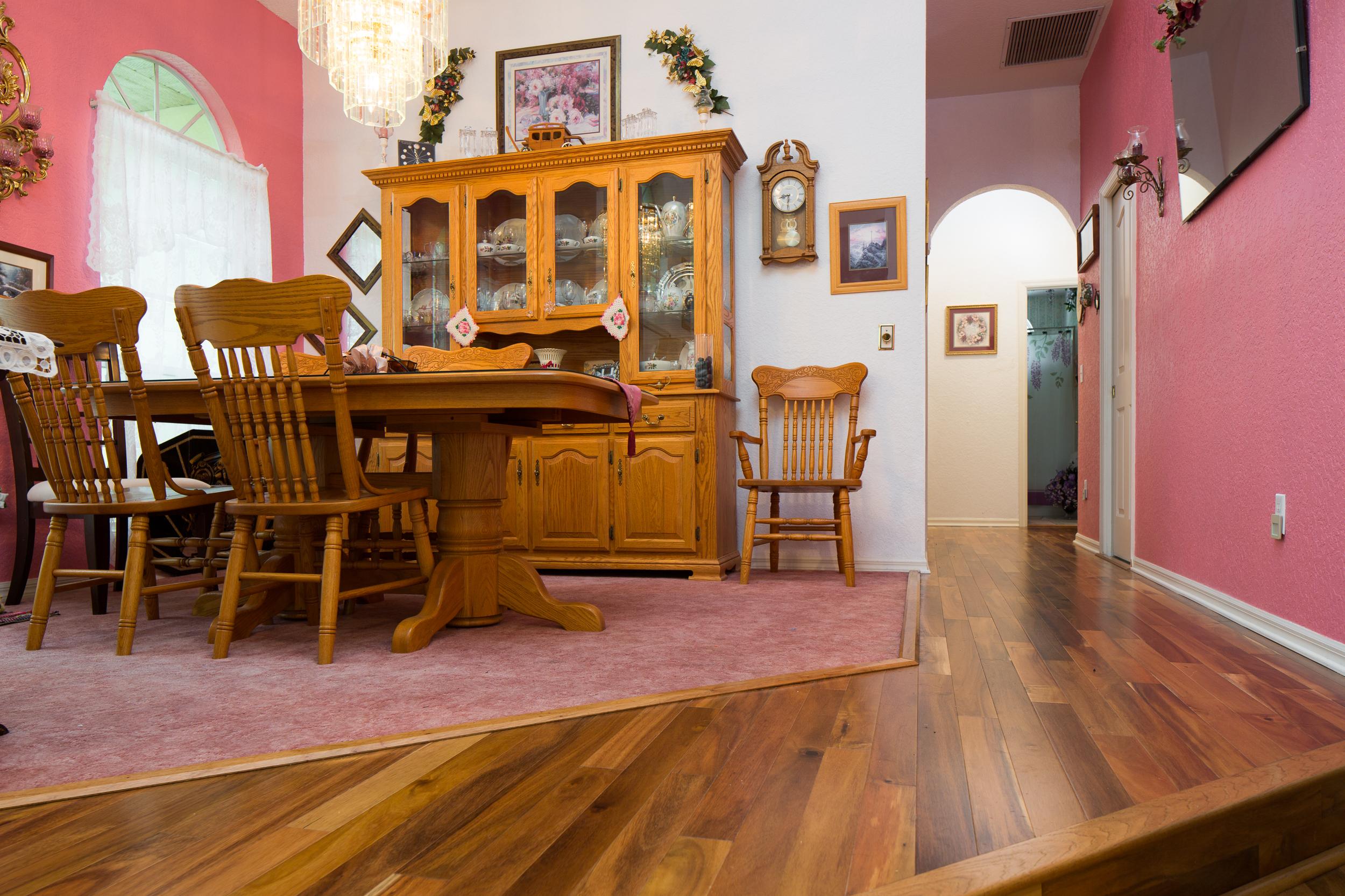 hardwood floors in dining