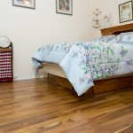 Acacia wood floors in bedroom
